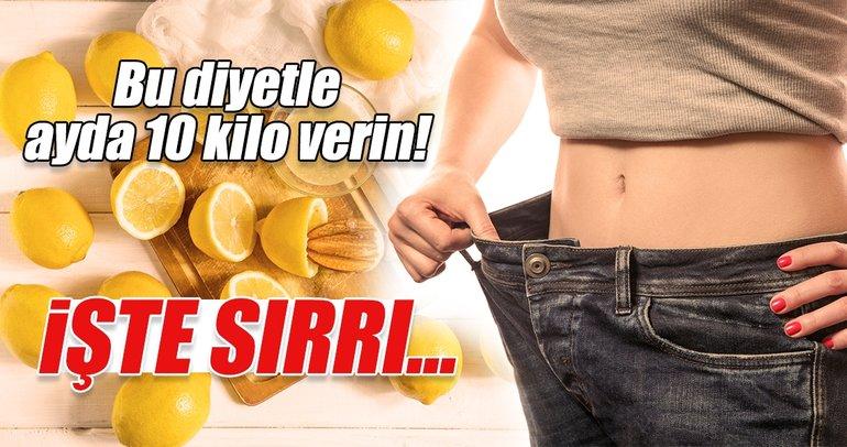 Bu diyetle ayda 10 kilo verin!