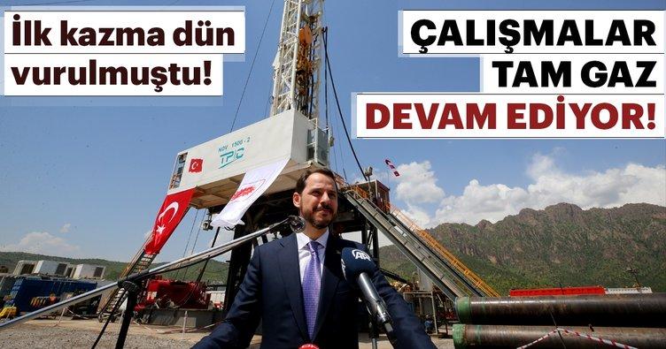 Bakan Berat Albayrak'ın duyurduğu petrol aramaları tam gaz devam ediyor