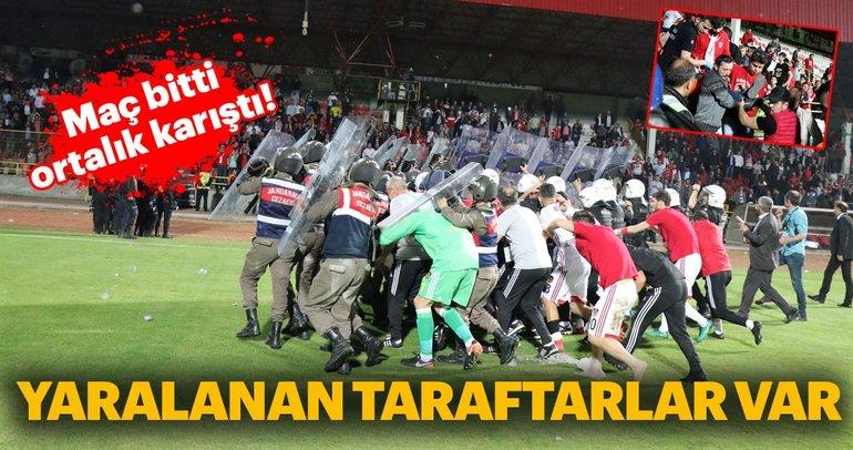 Boluspor - Gazişehir Gaziantep FK maçının ardından olaylar çıktı