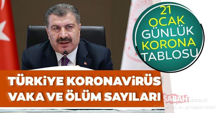 Bakan Fahrettin Koca son dakika paylaşıyor: İşte 21 Ocak koronavirüs tablosu ile Türkiye'de corona virüsü vaka sayısı verileri