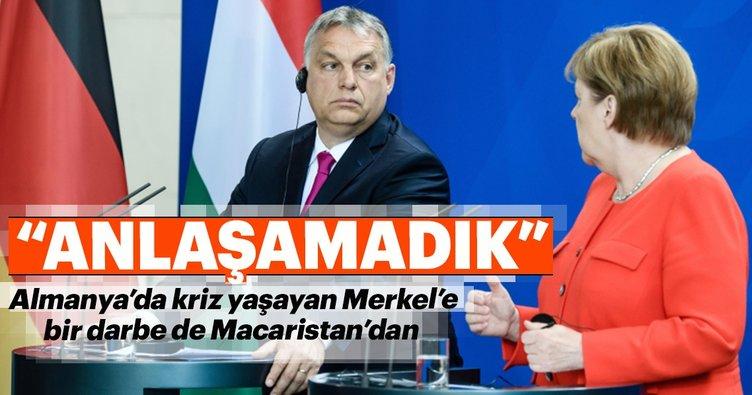 Almanya'da 'göçmen krizi' yaşayan Merkel'e bir darbe de Orban'dan