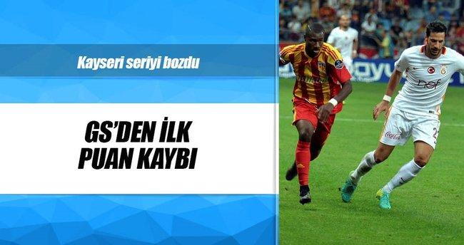 Galatasaray'da ilk puan kaybı