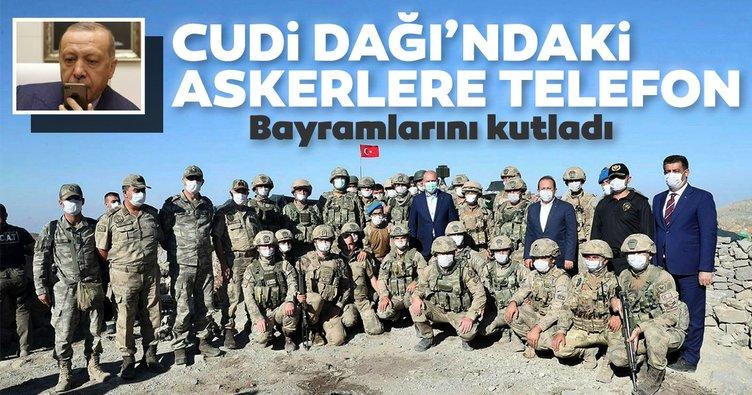 Son dakika: Başkan Erdoğan'dan Cudi Dağı'ndaki askerlere telefon