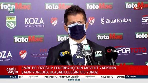 Fenerbahçe'de Emre Belözoğlu'ndan transfer sözleri!