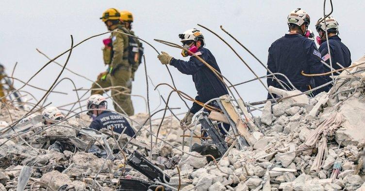 ABD'de çöken binadan çıkarılan ceset sayısı artıyor