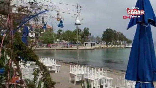 SON DAKİKA: Muğla Datça'da 4.4 büyüklüğünde deprem! Deprem sonrası ilk görüntüler
