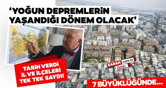 Övgün Ahmet Ercan'dan son dakika deprem uyarısı! 7 büyüklüğünde depremden etkilenecek il ve ilçeleri tek tek saydı