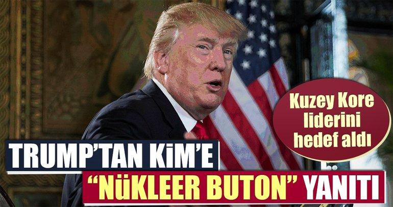 Trump'tan Kim'e nükleer silah butonu yanıtı