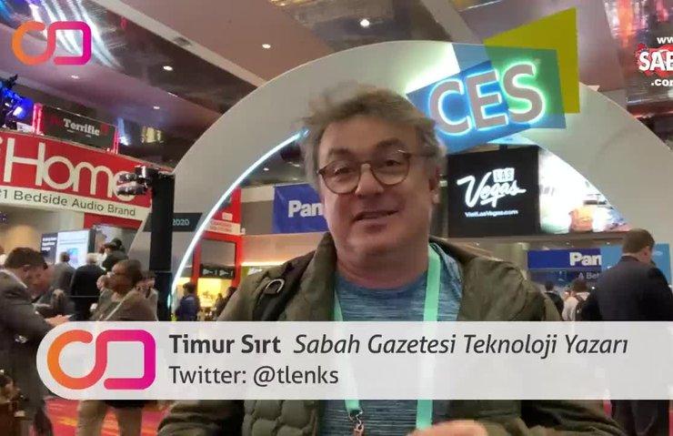 Sabah Gazetesi Teknoloji Yazarı Timur Sırt, ABD Las Vegas CES 2020'de teknolojinin nabzını tuttu