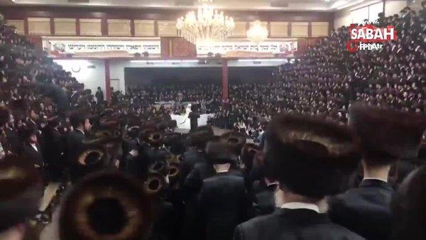 ABD'de fanatik Yahudiler düğünde Covid-19 önlemlerini hiçe saydı | Video