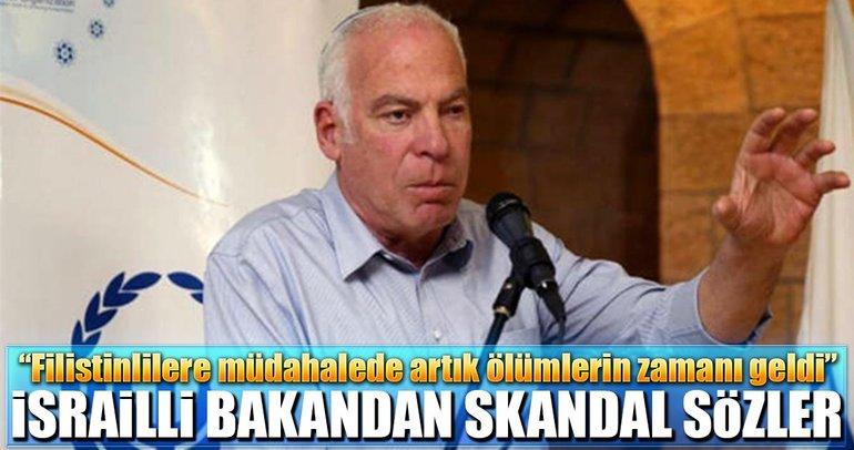 İsrailli bakandan skandal sözler