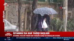 SON DAKİKA: İstanbul'da beklenen kar yağışı başladı! İstanbul hava durumu... Şiddetli kar yağışı ne kadar sürecek? | Video
