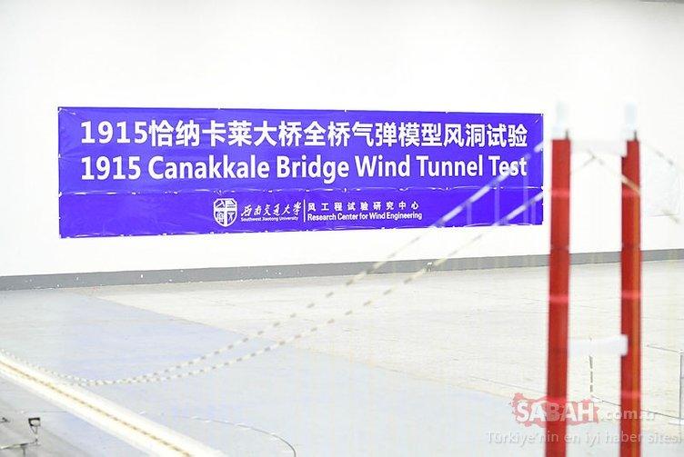 1915 Çanakkale Köprüsü Çin'de test edildi, Bakan böyle izledi