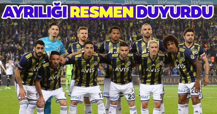 Fenerbahçe'deki ayrılığı resmen duyurdu!