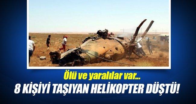 Üst düzey yetkilileri taşıyan helikopter düştü