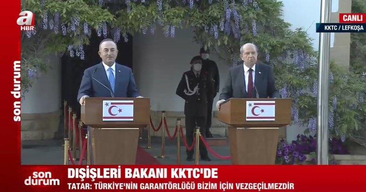 Son dakika: Dışişleri Bakanı Mevlüt Çavuşoğlu ve Ersin Tatar'dan Yunan Bakan'a tepki: Çizmeyi aşmıştır