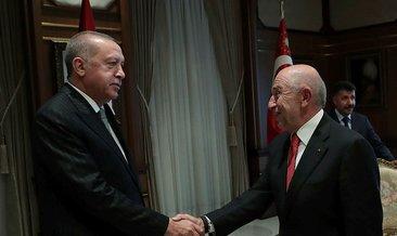 Başkan Erdoğan, TFF Başkanı Özdemir'i kabul etti
