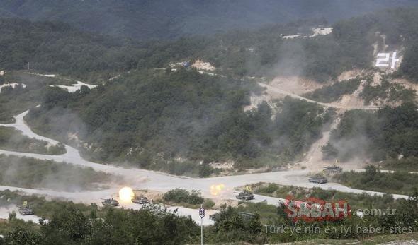 Güney Kore savunma fuarında vurdu, askerleri izledi