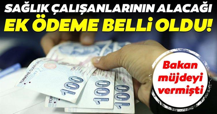 Sağlık Bakanı Fahrettin Koca müjdeyi vermişti! Sağlık çalışanları için ne kadar ek ödeme yapılacak?