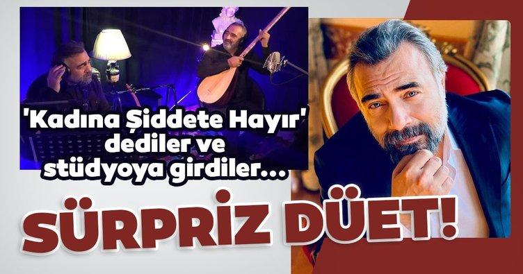 Karizmatik oyuncu Oktay Kaynarca ile Yavuz Bingöl'den düet sürprizi! Oktay Kaynarca ve Yavuz Bingöl 'Kadına Şiddete Hayır' demek söyledi...