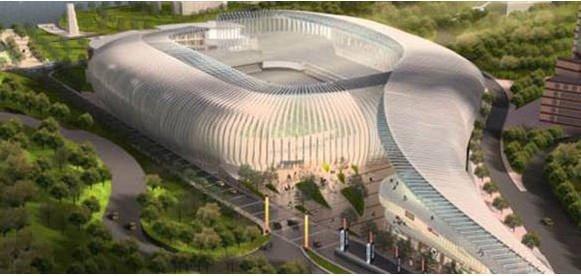 İnönü Stadı'nın proje resimleri
