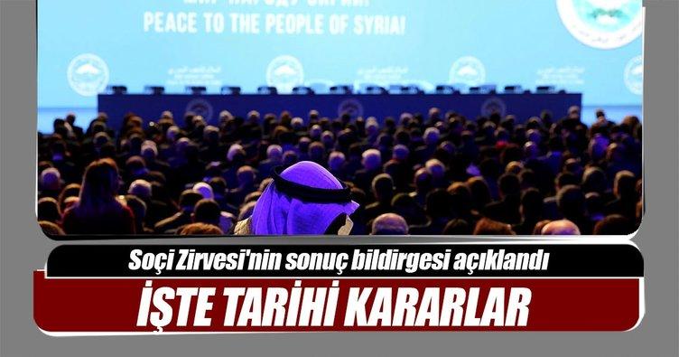 Son dakika: Soçi Zirvesi'nin sonuç bildirgesi açıklandı