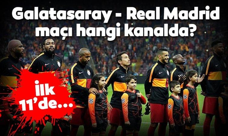 Galatasaray Real Madrid maçı hangi kanalda yayınlanacak? Galatasaray Real Madrid maçı ne zaman ve saat kaçta? Muhtemel 11'ler