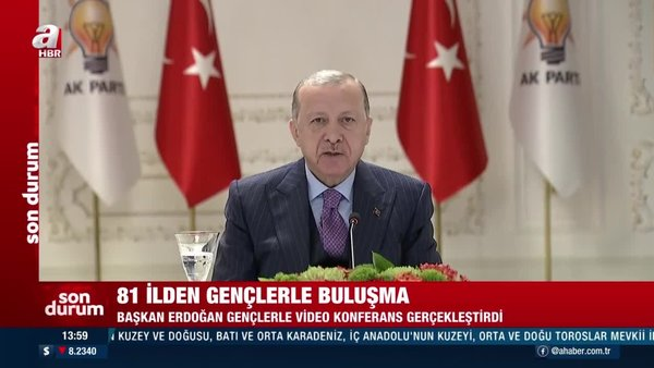Cumhurbaşkanı Erdoğan '81 İlimizden 560 Genç ile En Uzun İftar Sofrası' programına video konferans yöntemiyle katıldı