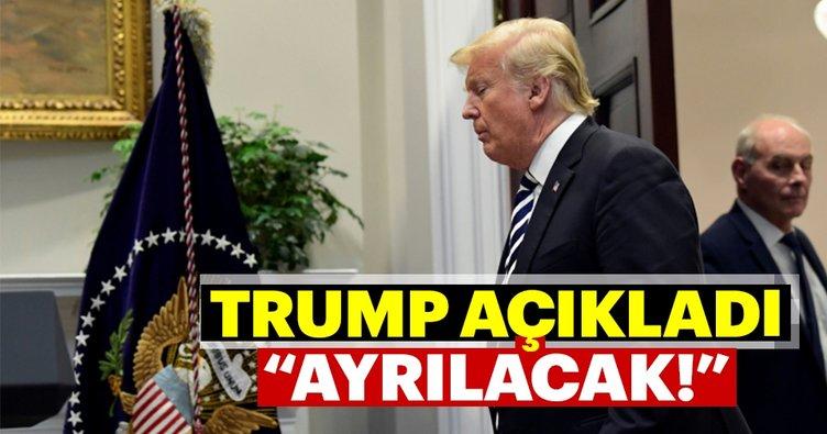 Trump açıkladı: Ayrılacak