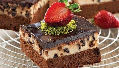 Damla Çikolatalı Kurabiye Hamurlu Brownie