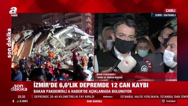 Bakan Pakdemirli'den enkaz bölgesinde açıklamalar | Video