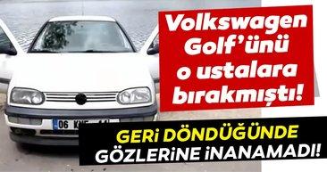 Eski kasa Volkswagen Golf'ünü onlara bırakmıştı! Geri döndüğünde manzara karşısında şoke oldu