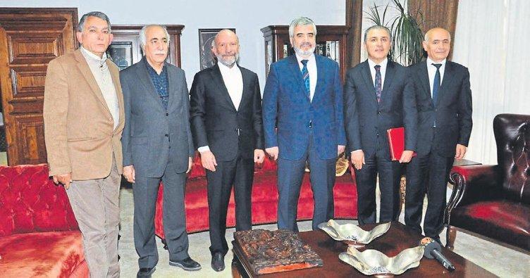 İstanbul müftüsü Günsel'in konuğu