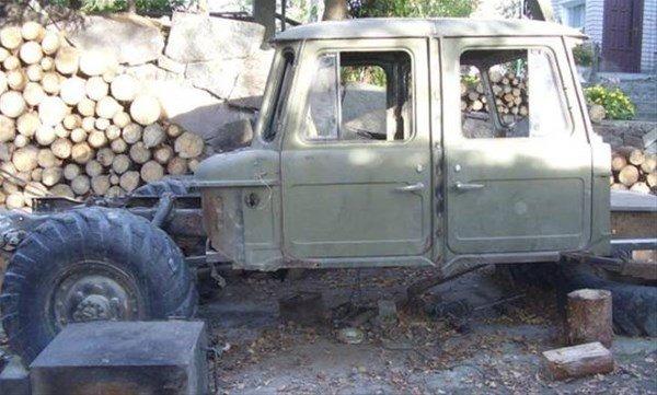 Eski kamyonun lüks bir cipe dönüşümü