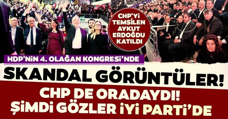 HDP kongresinde skandal görüntüler! 'Apo' sloganları sırasında CHP'li isim de oradaydı! Gözler İYİ Parti'de...