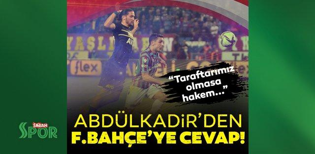 Abdülkadir Ömür'den Fenerbahçe maçı sözleri: Taraftarın baskısı olmasa hakem belki VAR'a bile gitmeyecekti