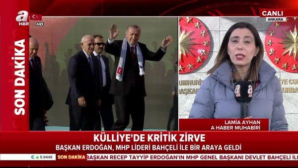 Cumhurbaşkanı Erdoğan - Bahçeli görüşmesi başladı