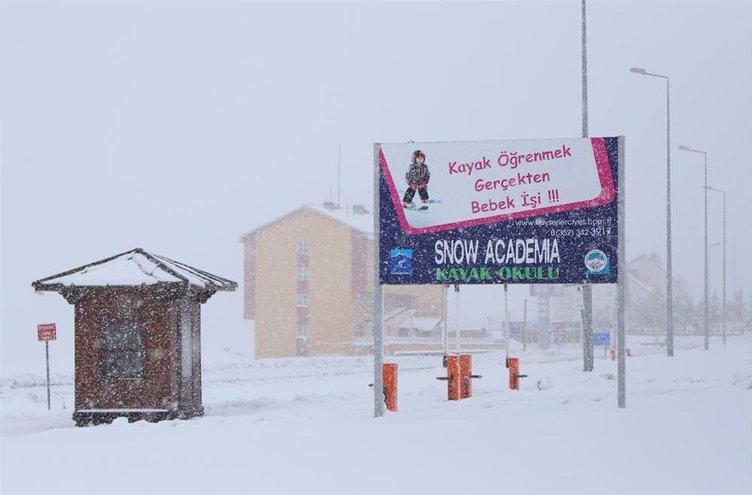 Kar kalınlığı 10 santimetreye ulaştı