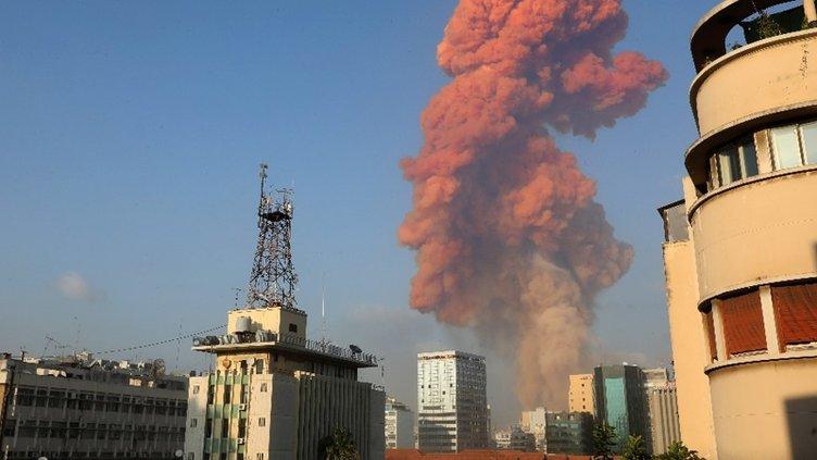 Son dakika haberler... Lübnan'ın Başkenti Beyrut'taki patlama anı! Beyrut'taki patlama anı anbean kamerada!