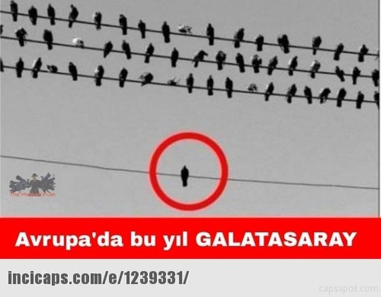 Galatasaray UEFA'dan ceza alınca capsler patladı