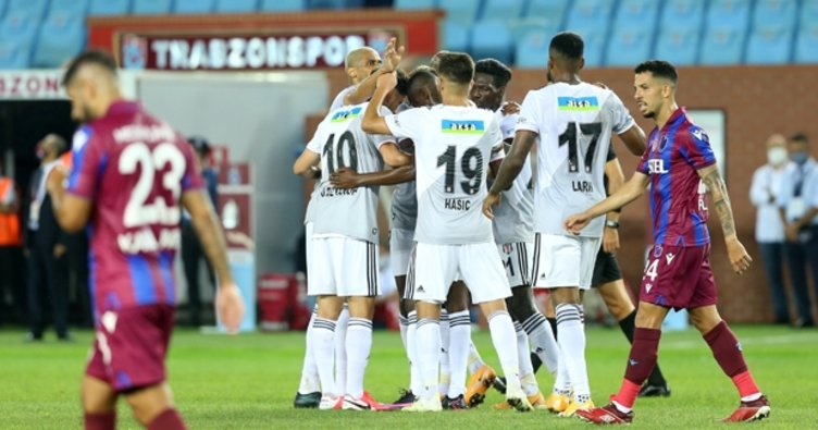 Beşiktaş sezonun ilk derbisini kazandı! Trabzonspor 1-3 Beşiktaş MAÇ SONUCU