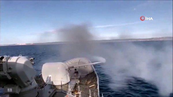 Türk Deniz Kuvvetleri'nden Saros Körfezi'nde atış eğitimi | Video
