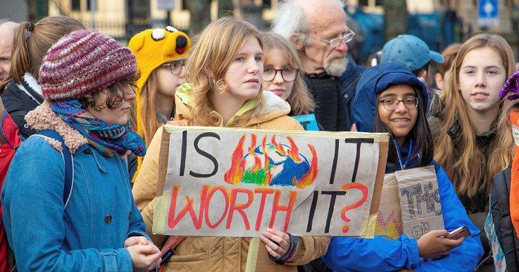 Hollanda'da iklim değişikliği protestosu