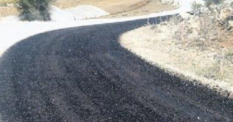 Yeşildağ mesire alanı yolu da asfaltla tanıştı