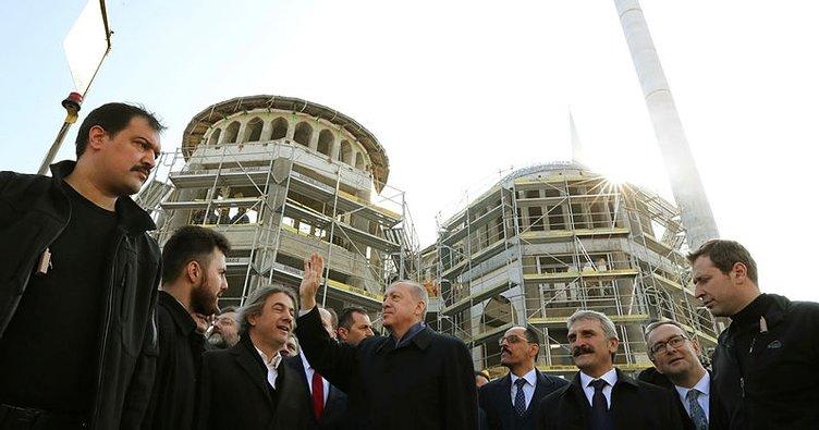 Cumhurbaşkanı Erdoğan Taksim Camii'ni inceledi