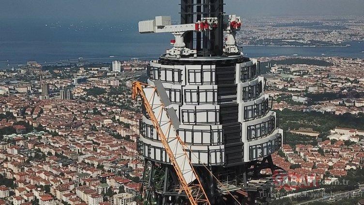 Çamlıca TV-Radyo Kulesi inşaatında sona yaklaşılıyor