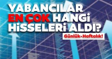 Borsa İstanbul'da günlük-haftalık yabancı payları 13/08/2020