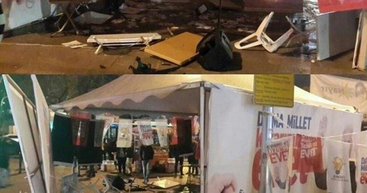Beşiktaş'ta EVET çadırına saldırı