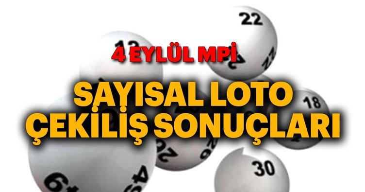 Sayısal Loto sonuçları açıklandı! 4 Eylül Milli Piyango Sayısal Loto sonuçları sorgulama nasıl yapılır?