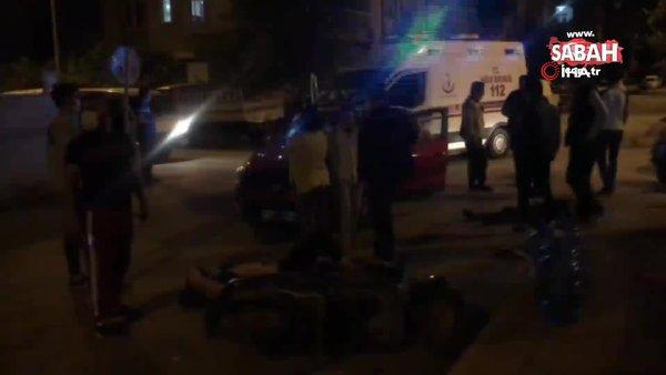 Kısıtlama saatinde boş yolda birbirlerine girdiler: 2 yaralı | Video